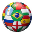 canvas print picture - World Football