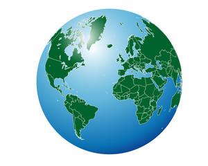 Simple globe world map