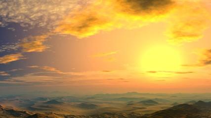 Yellow sunset.