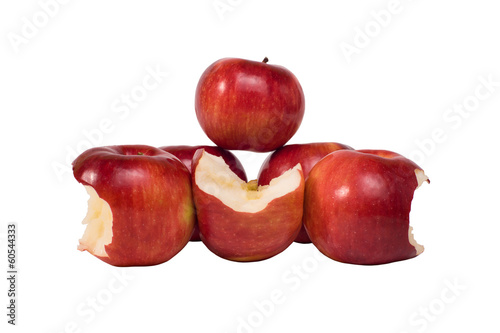 ripe apples isolated on white background