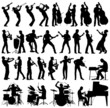 Musicians vector silhouettes - 60545115