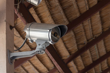 Close-Up shooting of CCTV or security camera