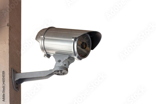 Close Up shooting of CCTV or security camera