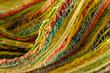 Bunte Textil Fasern