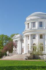 Elagin Palace on Elagin Island in the spring, St. Petersburg, Ru