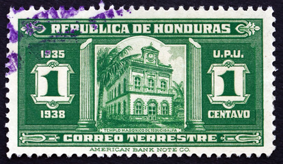 Postage stamp Honduras 1935 Masonic Temple, Tegucigalpa