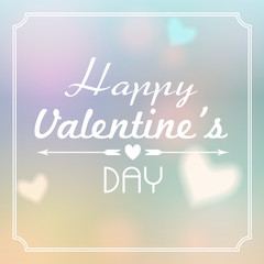 Illustration of glittering Valentine's Day background