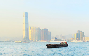 Kowloon at sunset