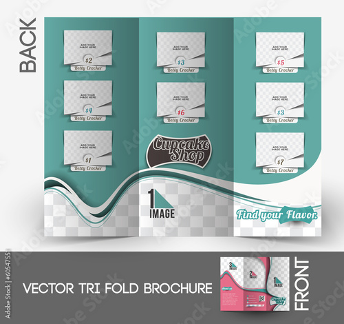 Cup Cake Shop Tri-Fold & Brochure Design