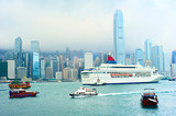 Hong Kong harbor and ferry