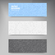 Vector Abstract banners. Circles white and blue set