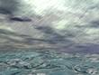 Storm over ocean - 3D render