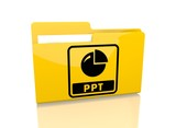 file folder with ppt sign