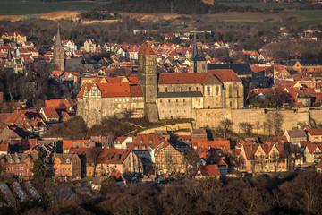 Luftbild - Stiftskirche Quedlinburg