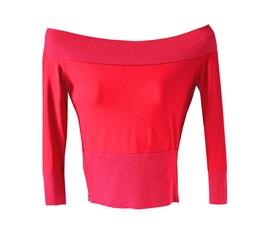 Rotes Shirt / Schulterfrei-Shirt / Mode für Damen
