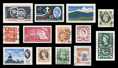 Vintage British Commonwealth Stamps