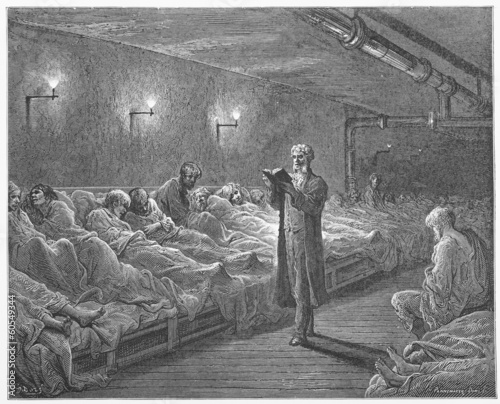 Scripture Reader in  Refuge - Dore's London: a Pilgrimage