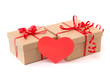 Valentine gift boxes with red heart