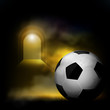soccer ball and tunnel