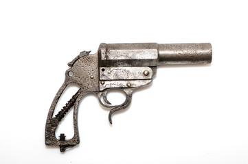 Old rusty gun.