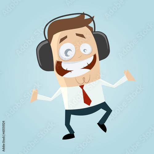 musik kopfhörer spaß cartoon