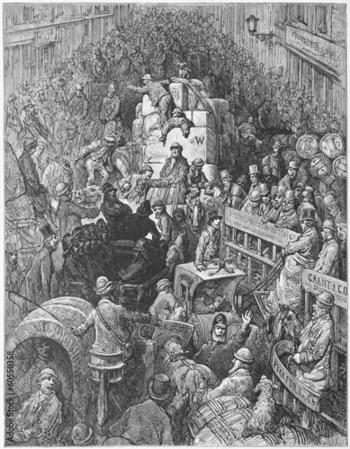 A City Thoroughfare - Gustave Dore's London: a Pilgrimage