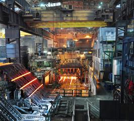 Stahlwerk Fabrik // steel plant factory