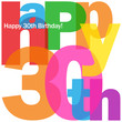 """HAPPY 30TH BIRTHDAY"" CARD (thirty party celebration congrats)"