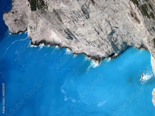 Azure water of Ionian sea, Zakynthos island, Greece