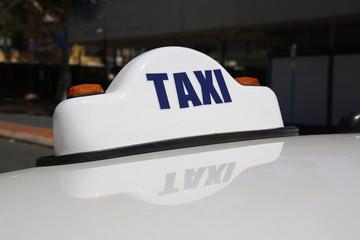 Taxi in Alice Springs. Australien