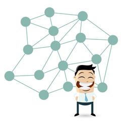 soziale netzwerke business männchen