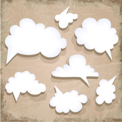 Paper Speech Bubble. Cloud