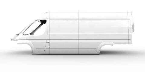 White body van