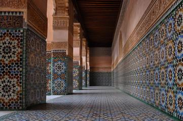 A view of Medersa Ben Youssef, Marrakech