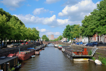 Canal in the Dutch town