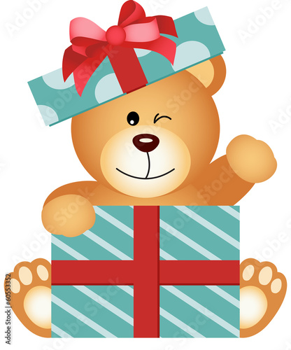 Teddy Bear in Gift Box