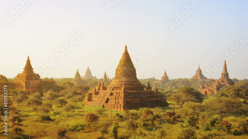 Ancient temples at the sunset, Bagan, Myanmar