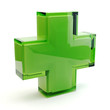 canvas print picture - Pharmacy symbol 3D