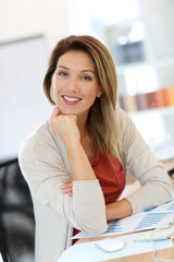 Successful businesswoman at work