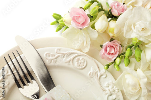 festive wedding table setting - 60554570