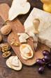 stuzzichino con formaggio grana e frutta