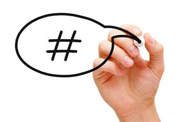Hashtag Speech Bubble Concept