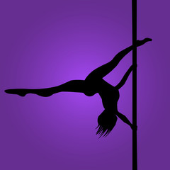 Silhouette-Pole Dancer