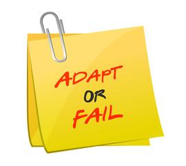 adapt or fail post message illustration design