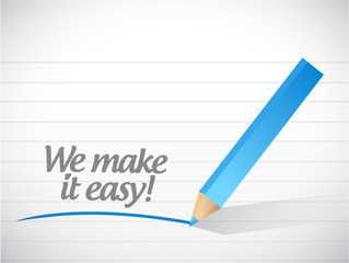 we make it easy. illustration design
