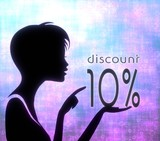 attactive girl silhouette with discount