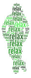 "Conceptual words illustration of the word ""Relax"""