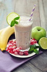 Banana smoothie  with berries