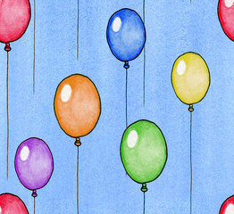 Watercolor Balloon Background