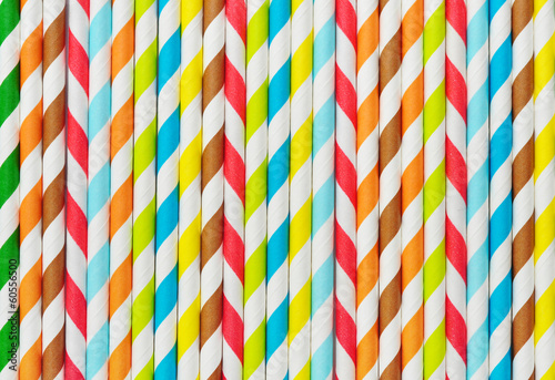 Background of Striped  drink straws